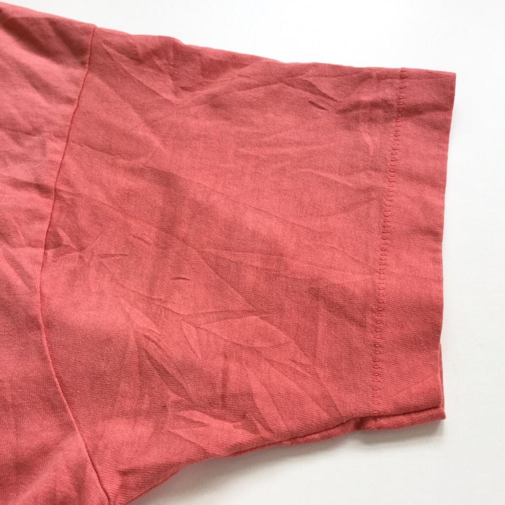 98 NEWS プリントT FRUIT OF THE LOOM 半袖Tシャツ 送料無料 メンズ L/サーモンピンク シングルステッチ ブランド アメリカ直輸入 MADE IN USA アメカジ アメリカ直輸入 古着卸 業販