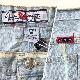 GV JEANS アメリカ直輸入 デニムショーツ 送料無料 レディース 16/デニムブルー・ストライプ トラッド アメカジ ショートパンツ 短パン ハーフパンツ 綿パン USA 古着卸 業販