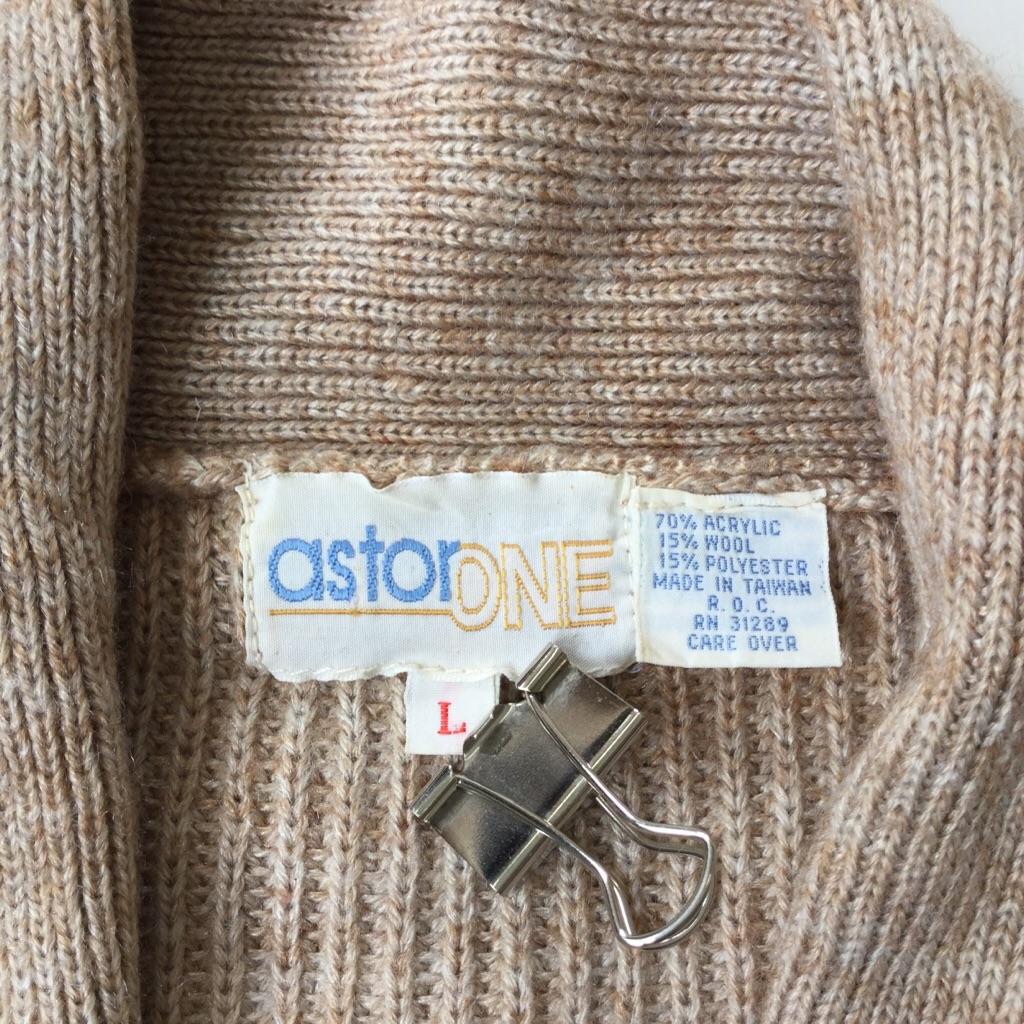 ASTOR ONE アメリカ古着 ウールベスト ニットベスト 送料無料 レディース L/ベージュ系 USA アメカジ カジュアル セーター カーディガン 古着卸 業販