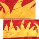 Rnyal Knight アメリカ直輸入 リメイクスウェット トレーナー 送料無料 メンズ XL/赤・レッド ファイヤー 炎 MADE IN USA 無地 プレーン アメカジ 古着卸 業販 大きい ビッグ オーバー