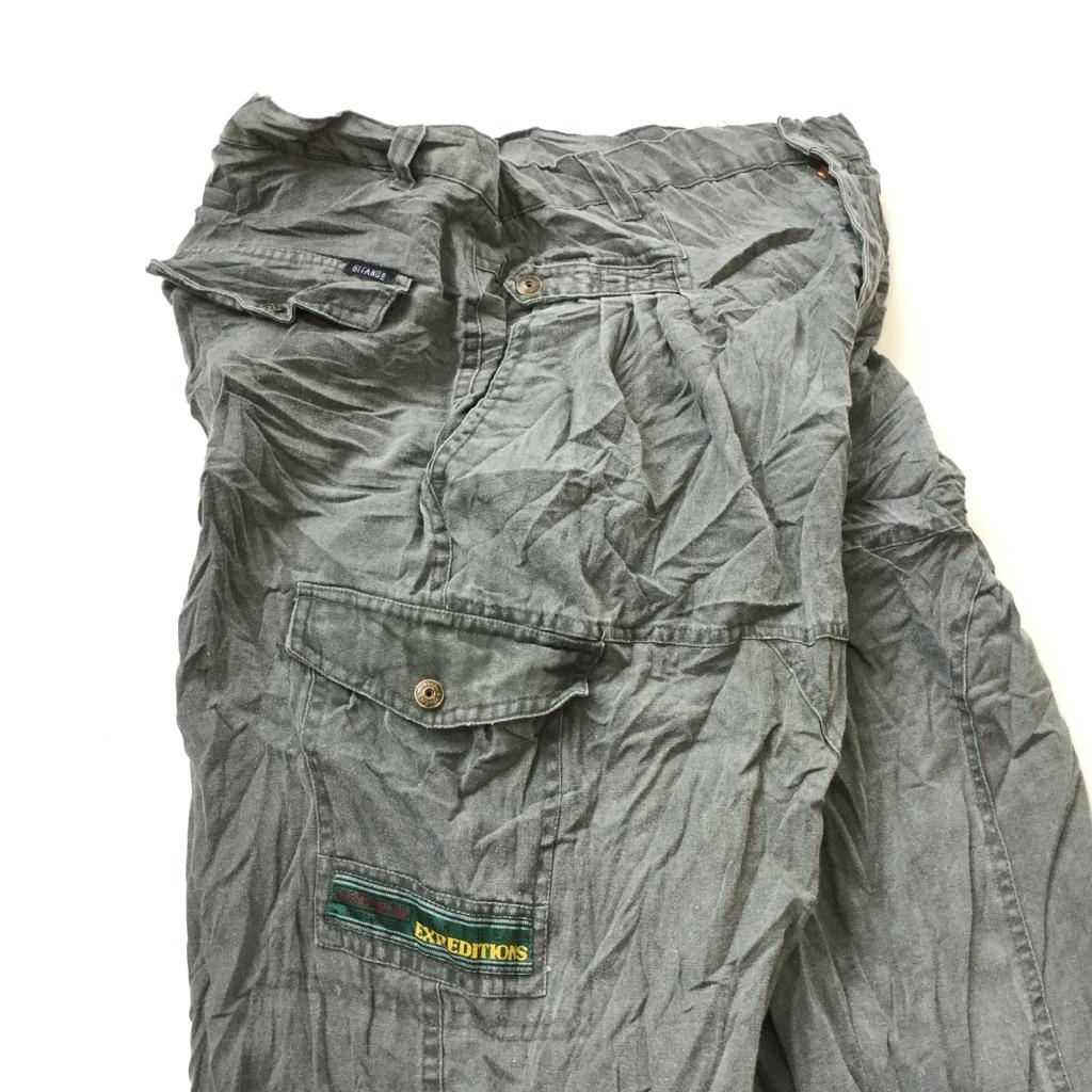 GITANO コットンパンツ アメリカ直輸入 ハンティングパンツ 送料無料 メンズ 34/緑がかったグレー カジュアル アウトドア カーゴパンツ USA アメカジ 古着卸 業販