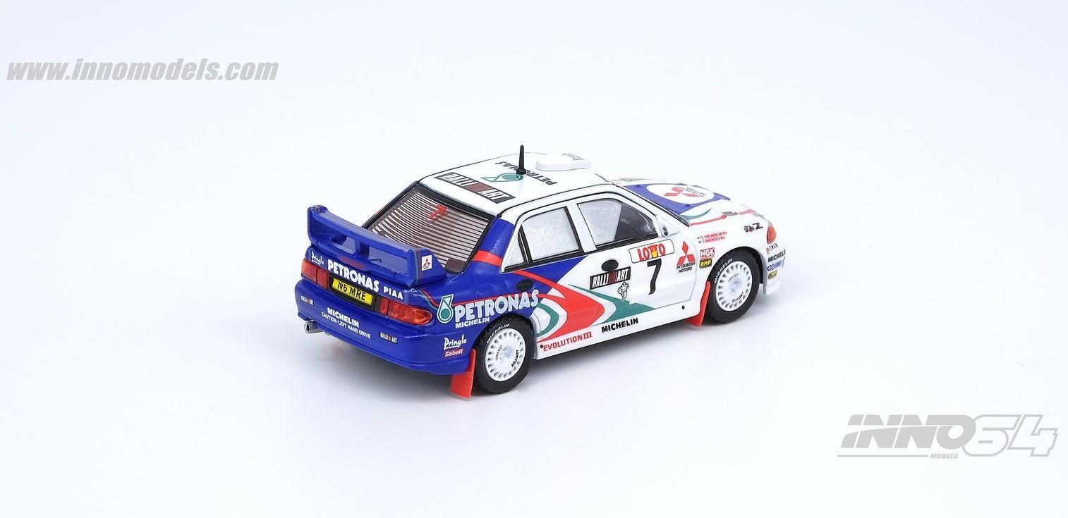 1/64 Mitsubishi Lancer Evolution III Australia Rally 1996 #7 white/blue