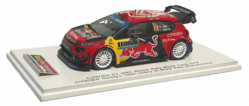 Citroen C3 WRC Citroen Total WRT No.1 Winner Rally Monte Carlo 2019 Citroen Racing's 100th victory in World Rally Championship