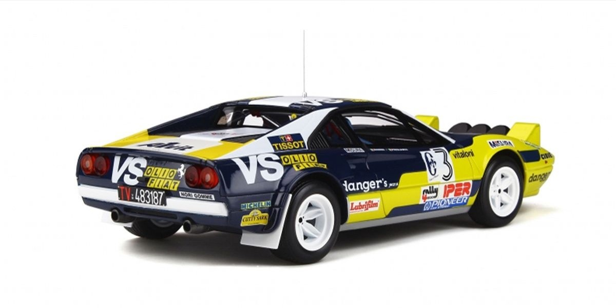 1/18 Ferrari 308 GTB Gr.4 # 3 (Yellow / Dark Blue)