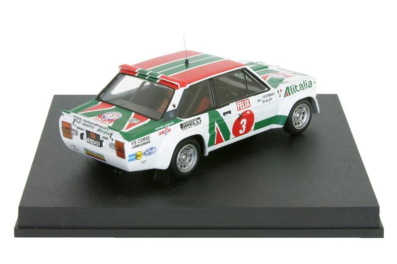 Fiat 131 Abarth #3 Alitalia 1st. 1000 Lakes Rally 1978
