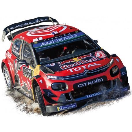 1/18 Citroen C3 WRC #1 Winner Rallye Monte Carlo 2019