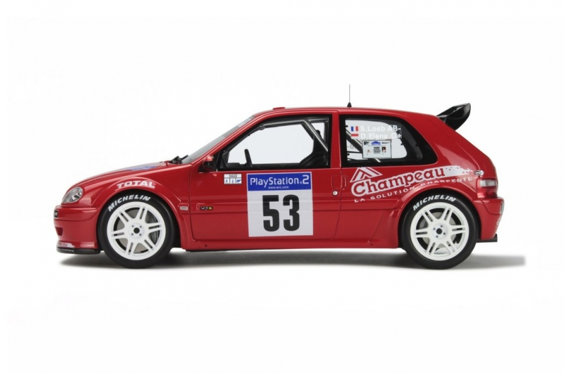 1/18 Citroen Saxo #53 Tour de Corse 2001  Red