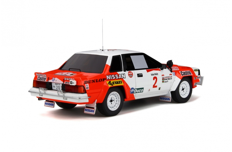 1/18 Nissan 240 RS #2 Safari Rally 1984 White/Red
