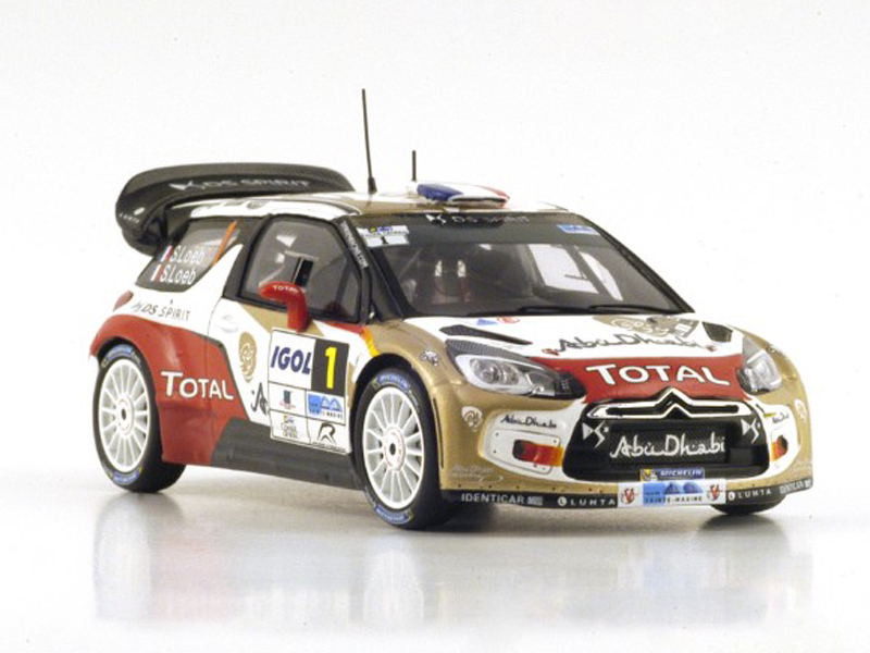 Citroen DS3 WRC No.1 Winner Rallye du Var 2014