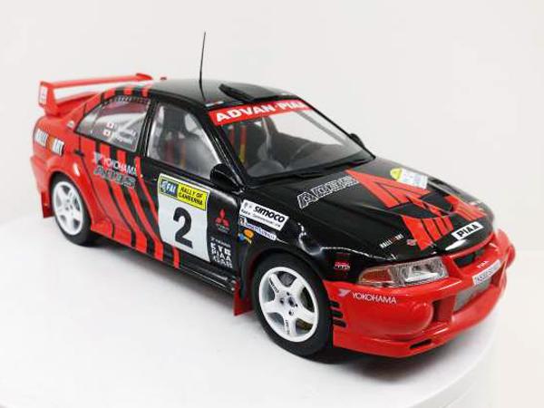 1/18 Mitsubishi Lancer EVO VI #2 1999 Red/black