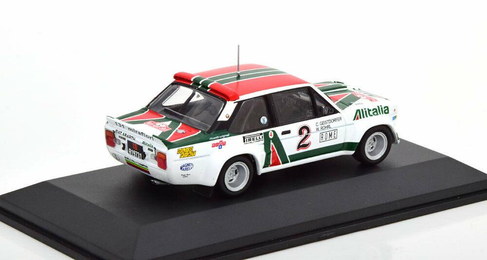Fiat 131 Abarth #2 4th Rally Monte Carlo 1978