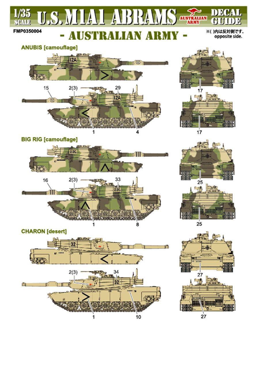 1/35 U.S.M1A1 ABRAMS AUSTRALIAN ARMY  Detail Up Parts set<br>FOX MODELS