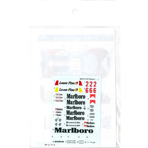"""MINI-Z McLaren F1 GTR """" Mar*****"""" decal<br>for MINI-Z<br>STUDIO27 【通販限定デカール】"""
