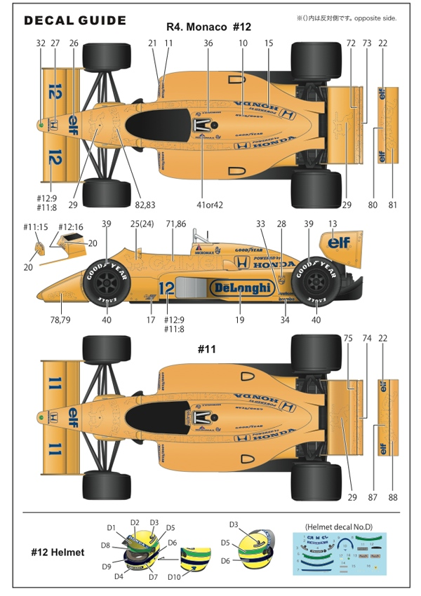 1/20 Type 99T monaco GP 1987 CONVERSION KIT<br>for TAMIYA1/20 99T<br>STUDIO27 【Convesion Kit】