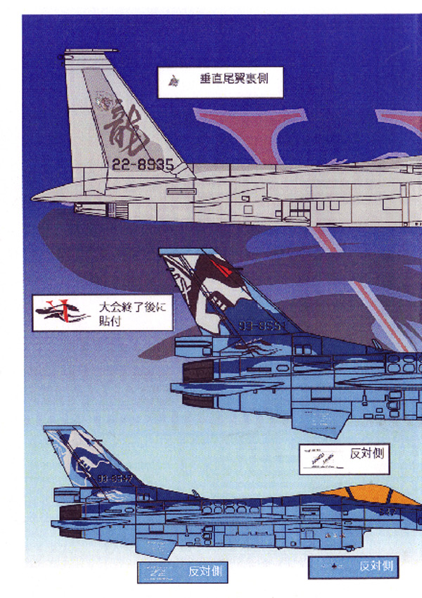 1/48 F-2A&F-15J 戦競2010 優勝セット <br>FOX MODELS