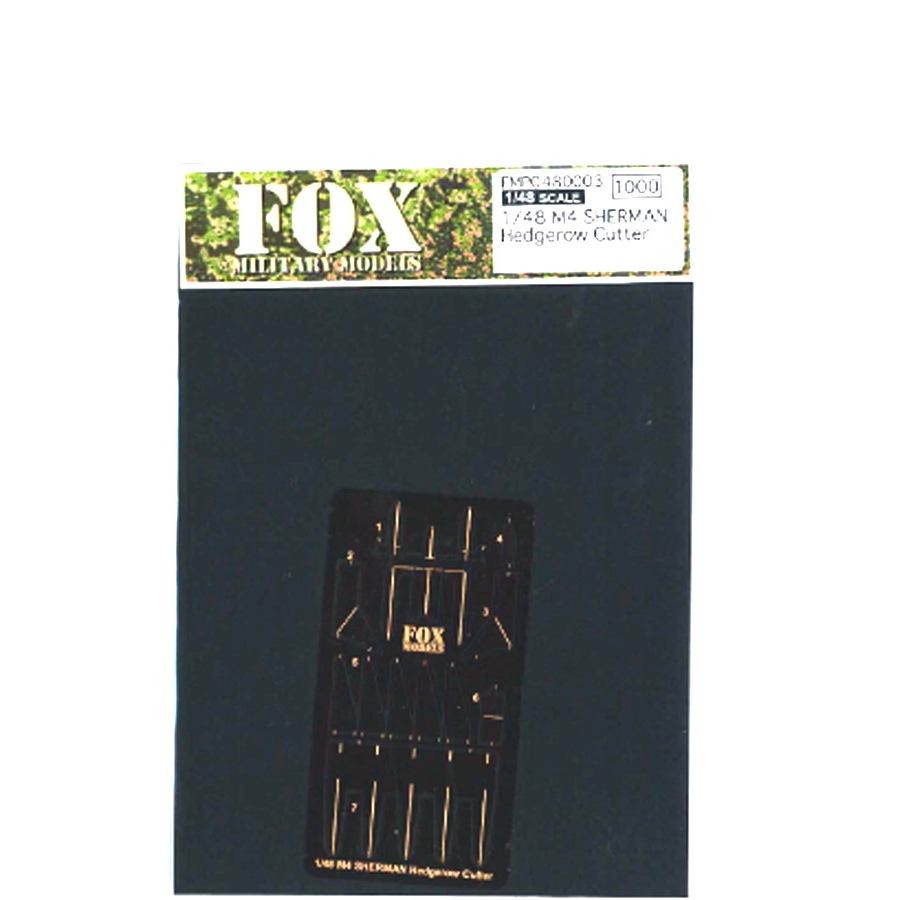 1/48 M4 SHERMAN Hedgerow Cutter<br> P/E Parts<br>FOX MODELS