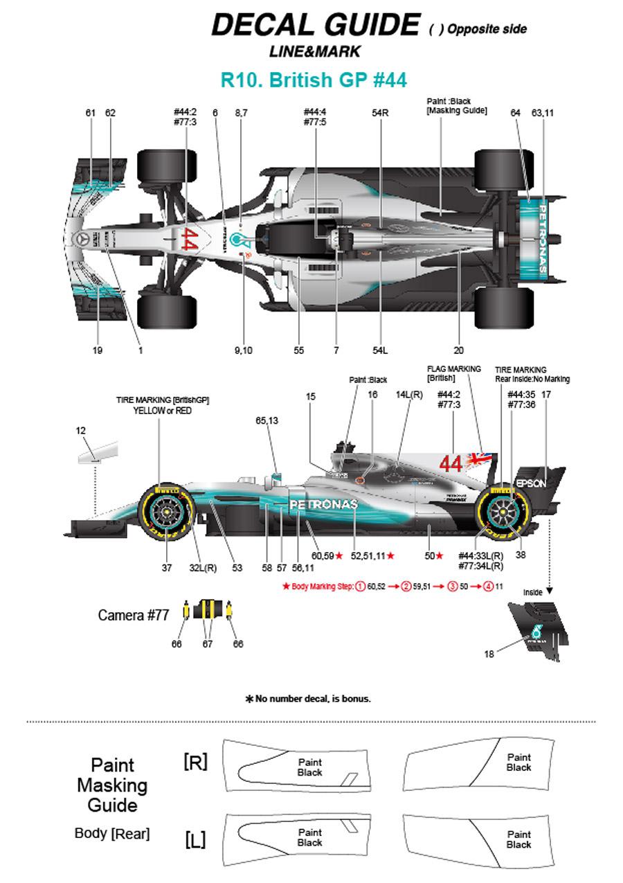 1/20 F1 W08 British GP 2017<br>MONOPOST 【Multimedia Kit】