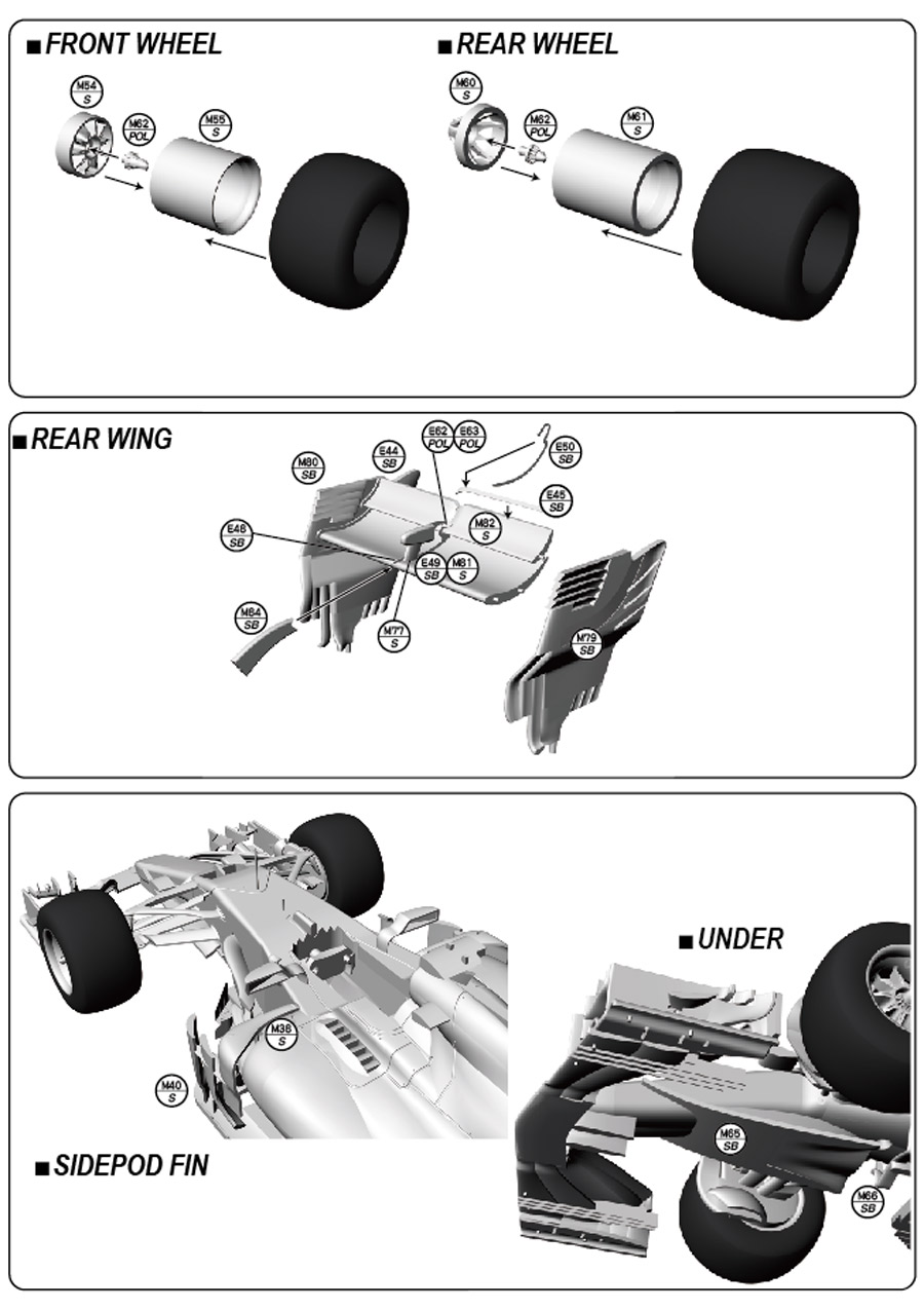 1/20 F1 W08 Japanese GP 2017<br>MONOPOST 【Multimedia Kit】