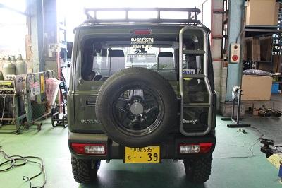 スズキ 新型ジムニー/シエラ リアラダー&スペアタイヤブラケット【型式:JB64・JB74】