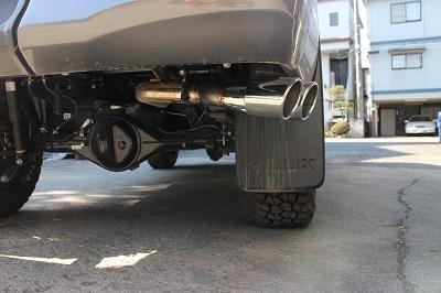 トヨタ 125ハイラックス 車検対応サイド出しマフラー 【型式:QDF−GUN125】