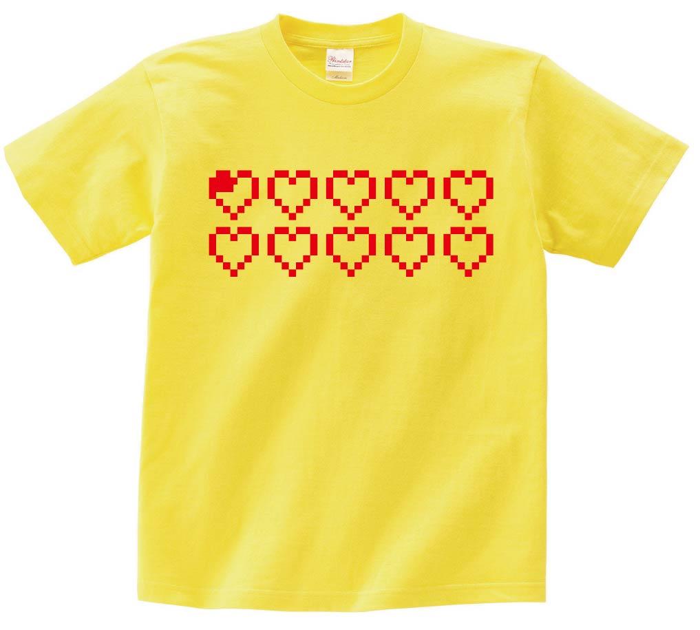 ハート ライフ 瀕死 ゲーム パロディ 半袖Tシャツ