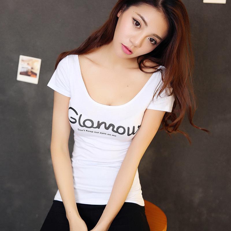 伸縮性 スリム Tシャツ