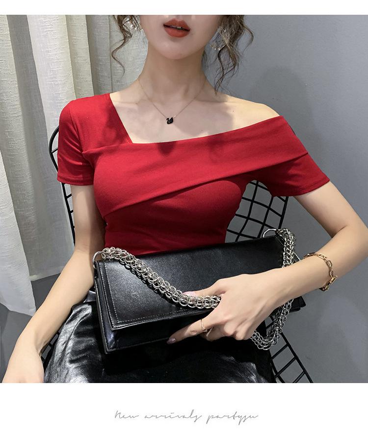 tシャツ女性オフショルダートップコットン tシャツtシャツカジュアルレディース半袖トップス