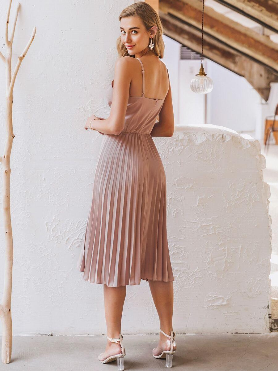 レディーススパゲッティストラップサマードレス