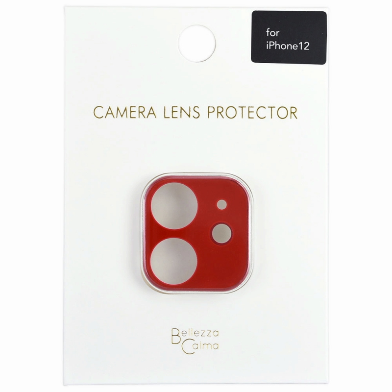 【Bellezza Calma】iPhone 12 カメラ保護ガラス RD  Bellezza Calma[ベレッツァカルマ]
