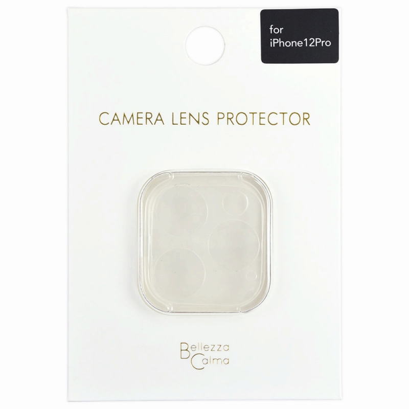 【Bellezza Calma】iPhone 12 Pro カメラ保護ガラス CL  Bellezza Calma[ベレッツァカルマ]