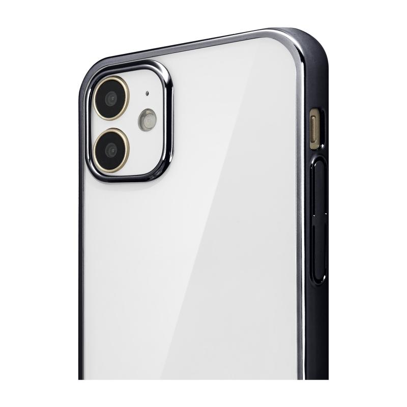 【Bellezza Calma】サイドメッキ iPhone 2020(5.4)BK  Bellezza Calma[ベレッツァカルマ]