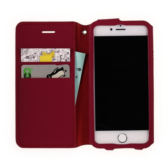 iPhone 8/7/6s/6 手帳型スマホケース Simple Case Red[レッド] Bellezza Calma[ベレッツァカルマ]