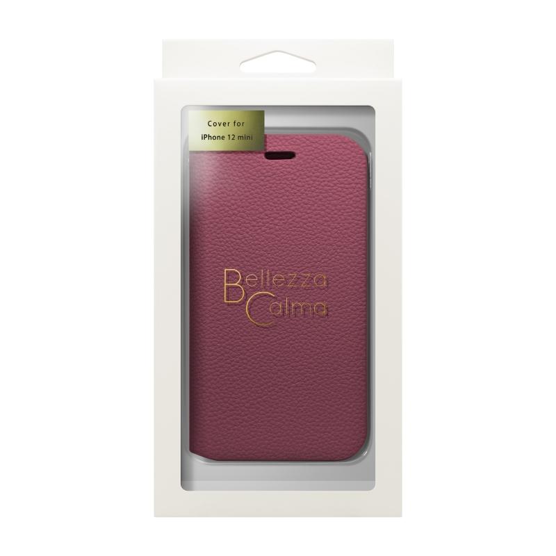 【Bellezza Calma】スタンド型手帳ケース(5.4)RD  Bellezza Calma[ベレッツァカルマ]