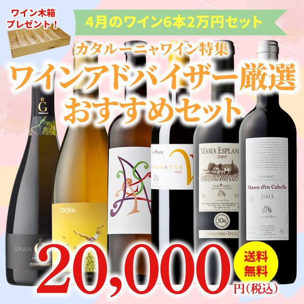 【39%OFF&送料無料】>4月におすすめのお得なワインセット>ワインアドバイザーが選ぶ6本2万円セット>ワイン木箱プレゼント付