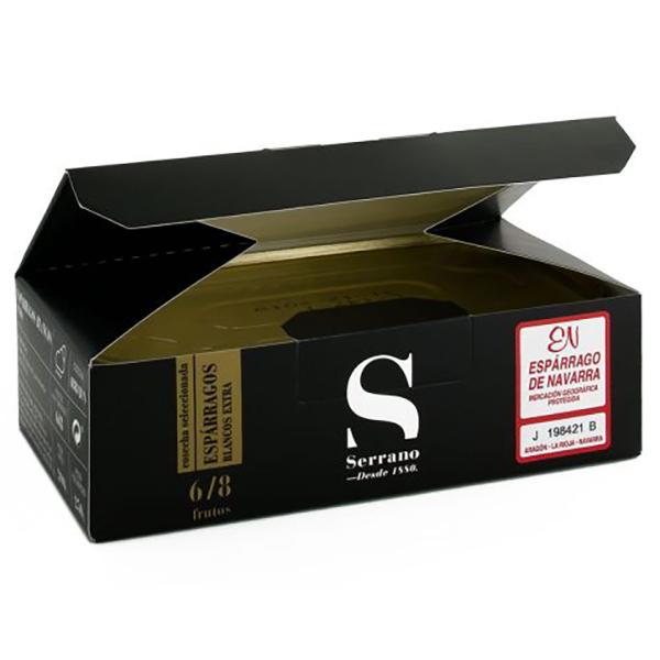 ナヴァラ産アスパラガス水煮 缶詰箱付500g>Esparrago blanco extra