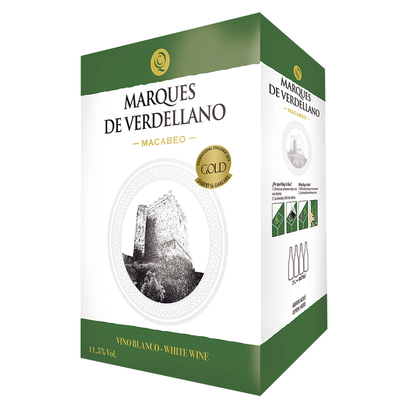 【2020年新商品】>M.ヴェルデジャーノ・ブランコ 3L BOXワイン>Marques de Verdellano Blanco