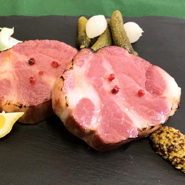 【冷凍商品・イベリコ豚】>肩ロースハム・ブロック(400g以上)