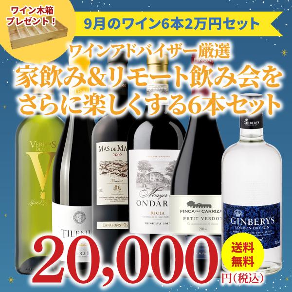 【37%OFF&送料無料】>9月におすすめのお得なワインセット>ワインアドバイザーが選ぶ6本2万円セット>ワイン木箱プレゼント付