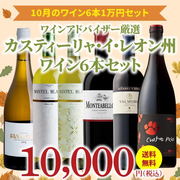 【35%OFF&送料無料】>10月におすすめのお得なワインセット>ワインアドバイザーが選ぶ6本1万円セット