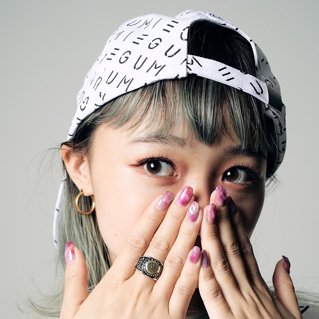 <受注生産>EGUMI MONOGRAM CAP【WHITE】