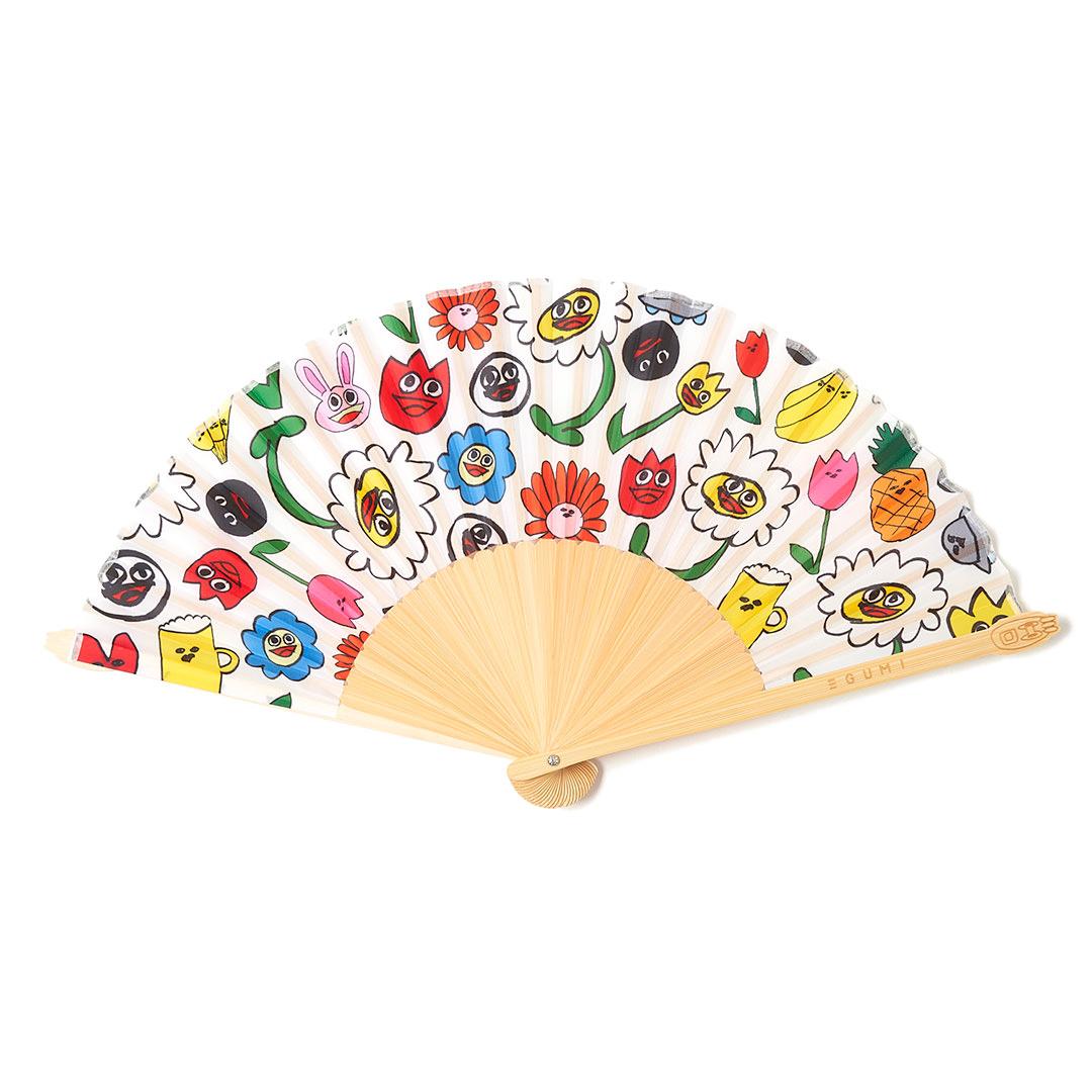 <受注生産>EGUMI HAPPY FLOWER 扇子