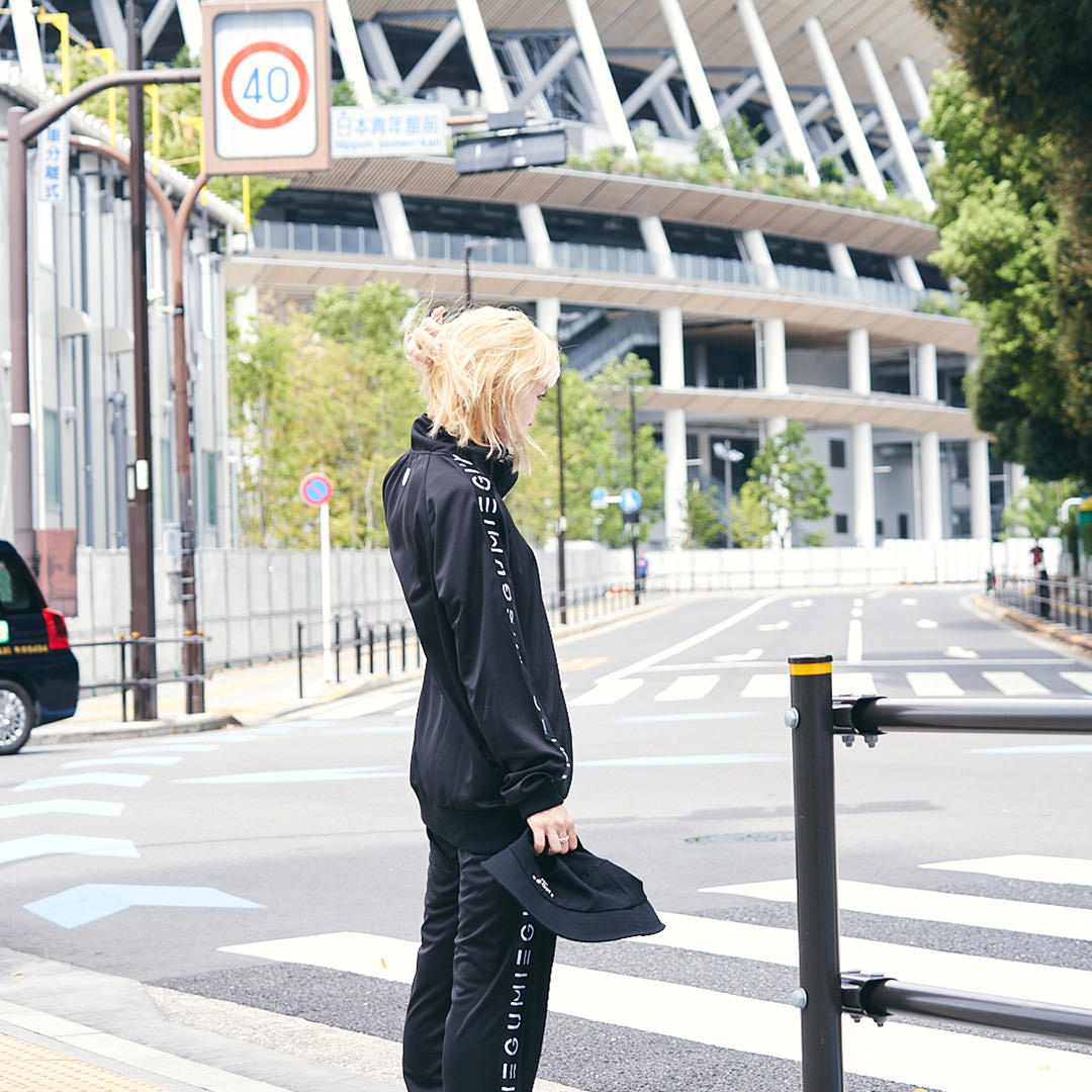 <受注生産>EGUMI HEART TRACK SUIT【BLACK】