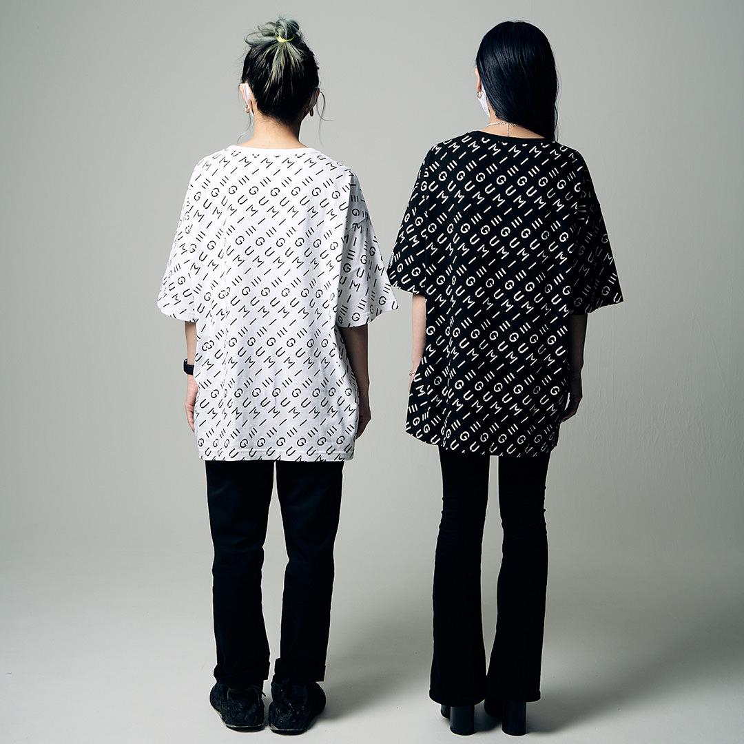 <受注生産>EGUMI MONOGRAM BIG TEE【BLACK】