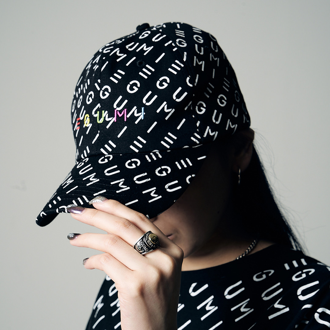 <受注生産>EGUMI MONOGRAM CAP【BLACK】