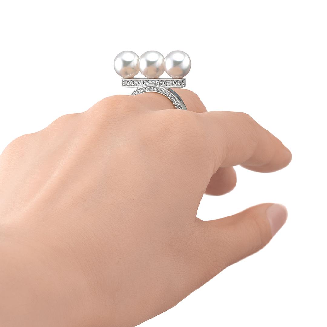 バランス ネオ ダイヤモンドパヴェ リング