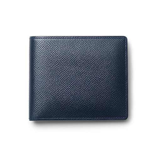 Bi-fold Wallet with coin compartment(Navy)「2つ折り財布(ネイビー)」