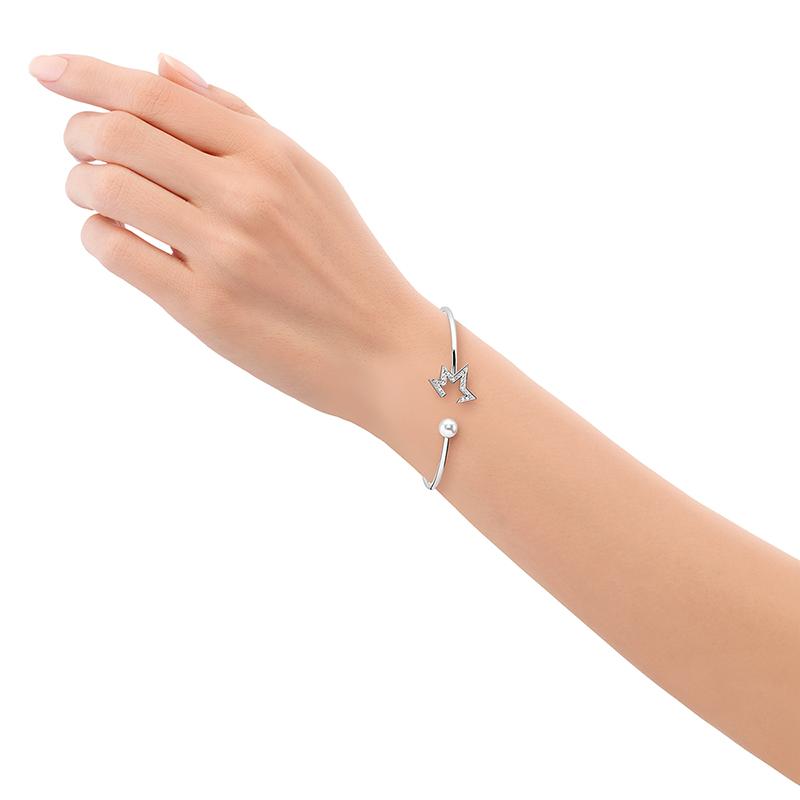 コメット プラス ダイヤモンド  バングル