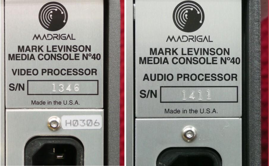 中古品:MarkLevinson   No40L(AVプリアンプ)