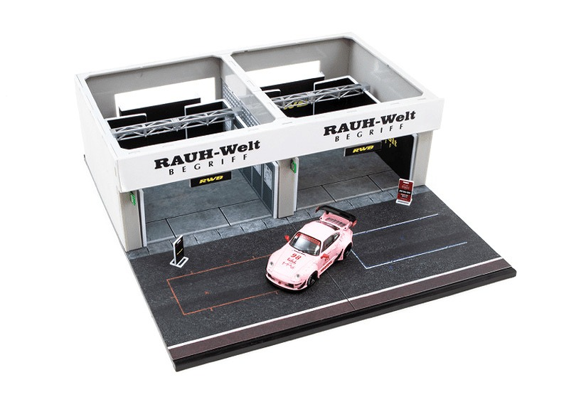 T64D-001-RWB 1/64 Racing Pit Garage - RWB + RWB 993 Hooters