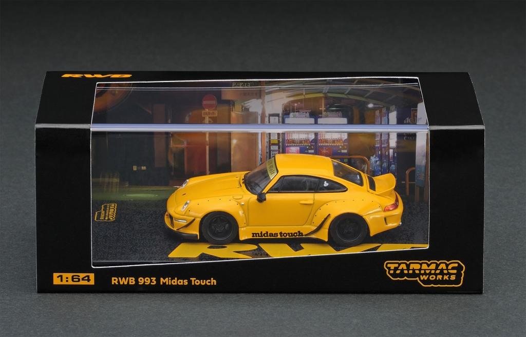T64-017-MT 1/64 RWB 993 Midas Torch Bright Yellow USA Ducktail